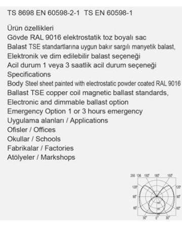 1X58 ETANJ DUYLU BANT TİPİ ARMATÜR