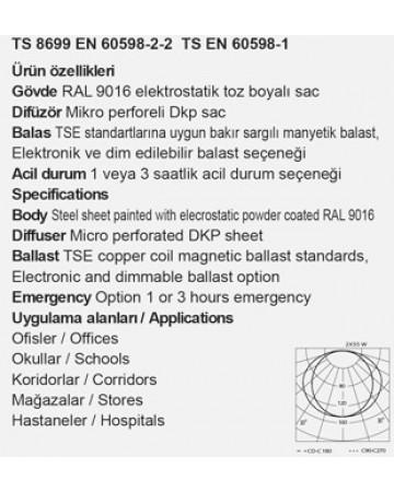 2X55 SIVA ALTI GRİ PTT ARMATÜRÜ